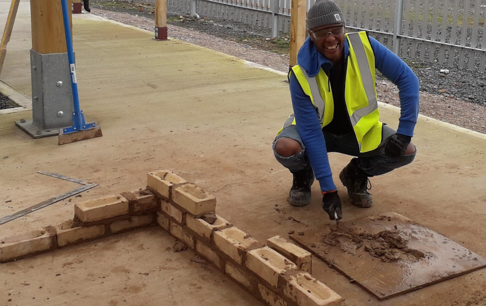 Achieving the first steps in to a career in construction