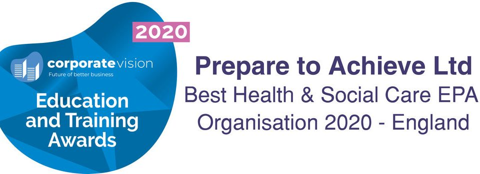 Prepare to Achieve wins Best Health and Social Care EPA Organisation 2020