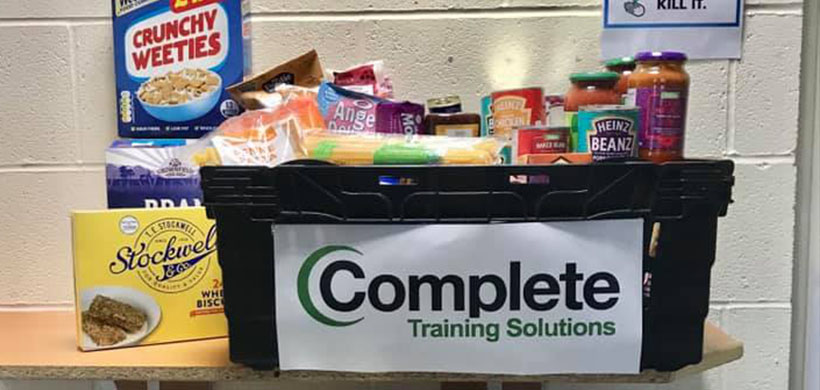 Complete Training Solutions support The Florrie Centre with essential food donations